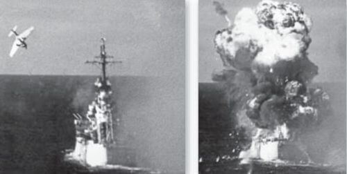 kamikaze pilots facts The cruiser USS Colombia under attack around 1724hrs on January 6, 1945, in the Lingayen Gulf by a Mitsubishi