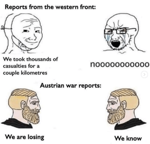 WWI memes compilation eastern vs western front