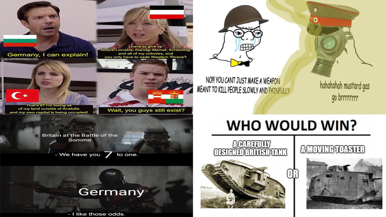 50 WWI memes that are both funny and educational