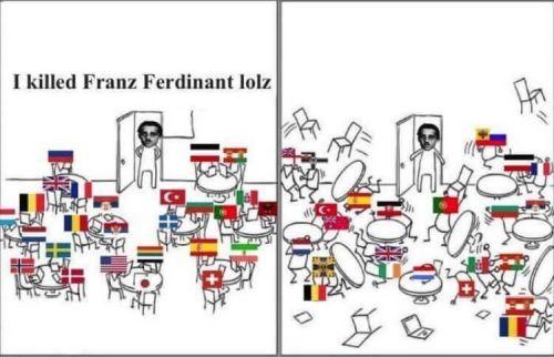 WWI memes, Gavrilo Princip