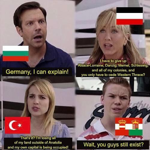 WWI memes, Central Powers at the end of WWI