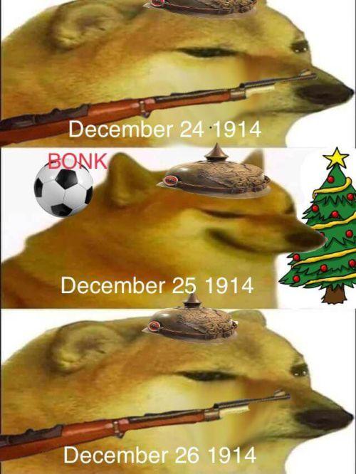 WWI memes, christmas truce