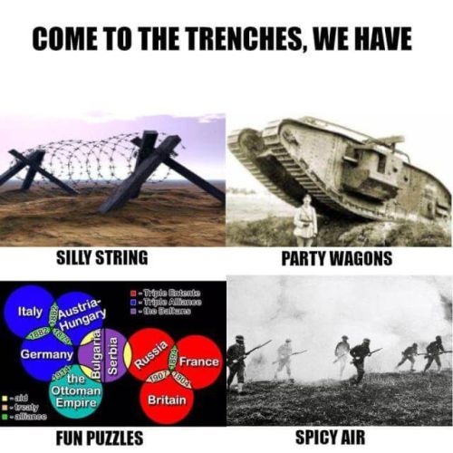 WWI memes, trench puzzle