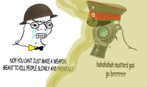 WWI memes Germany uses gas