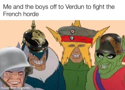 WWI memes Verdun battle