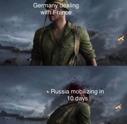 WWI memes, Russia joins the war