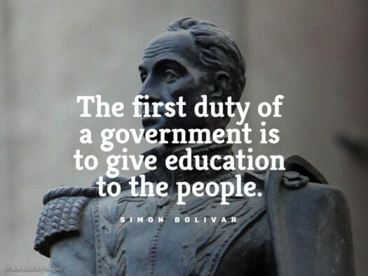 Simon Bolivar education quote
