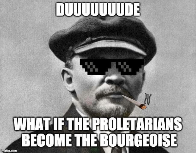 Lenin memes dictatorhis of the burgeoise