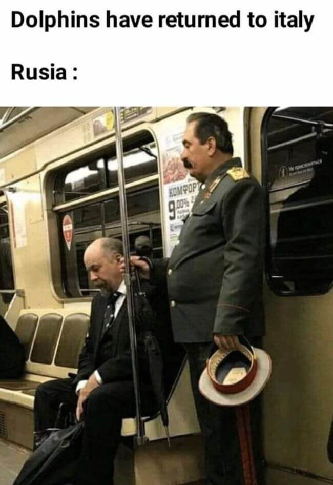 Lenin and Stalin planning the Great return