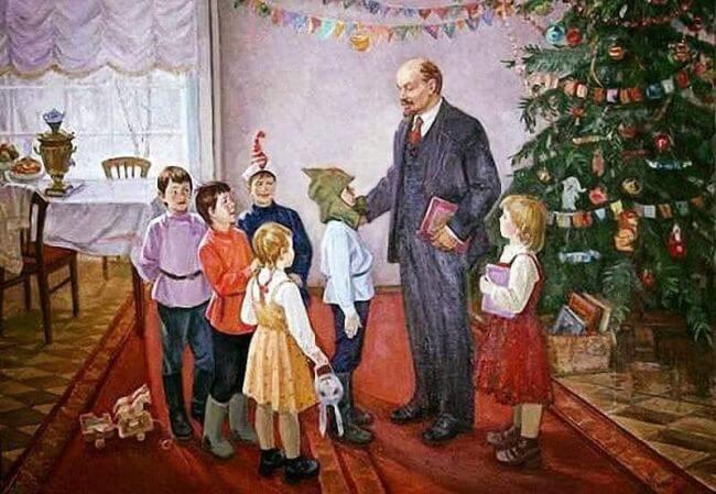 Lenin memes - Santa Claus communist version