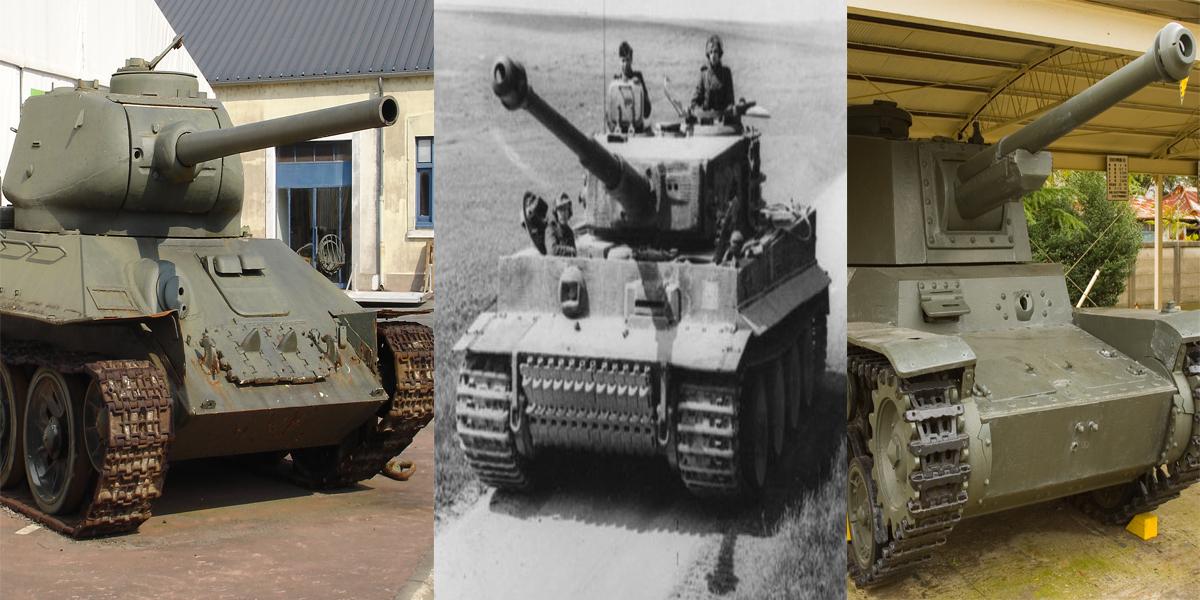 WW2 Tanks quiz - match the tank with its main gun