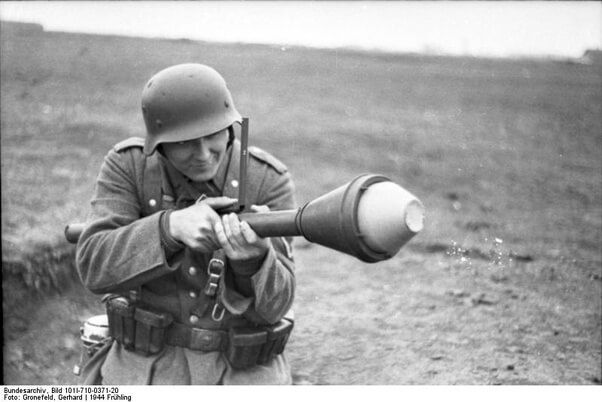 german soldier with panzerfaust 60
