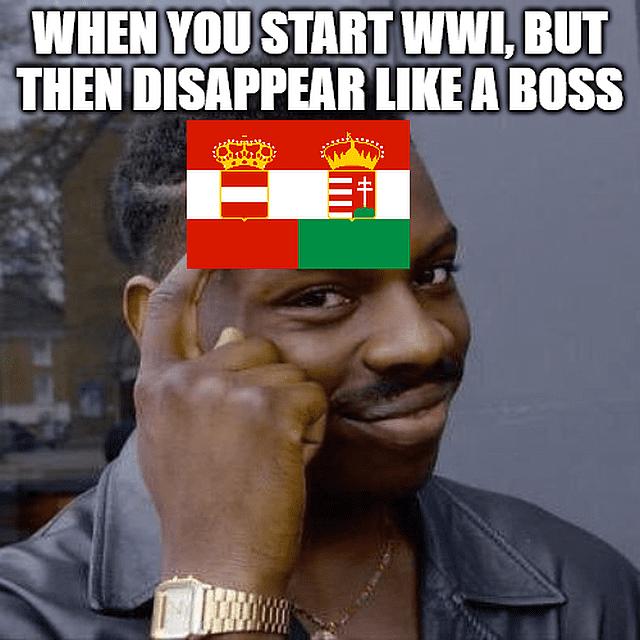 WWI memes, starts WWI dissapears like a boss