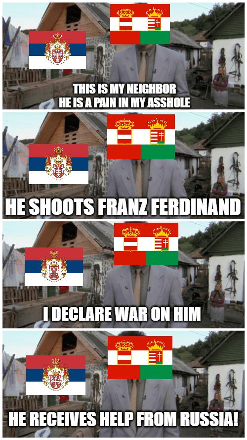 WWI memes, Austria-Hungary versus Serbia