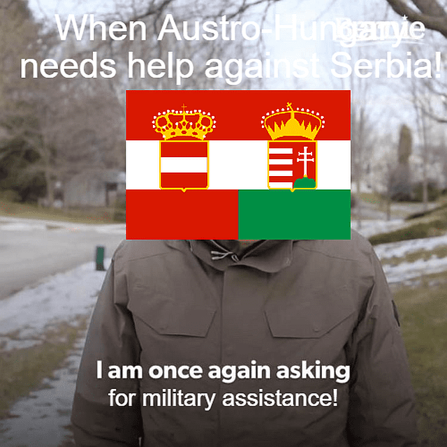 Austria-Hungary: I once again ask for military support