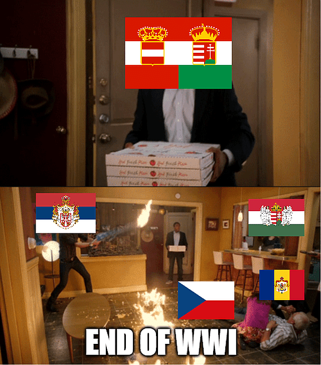 Austria-Hungarian collapse at the end of WWI