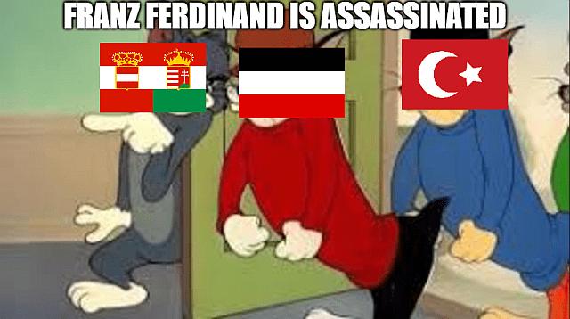 When Gavrilo Princip shots Franz Ferdinand