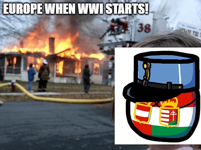 Austria Hungary vs Europe in WWI memes