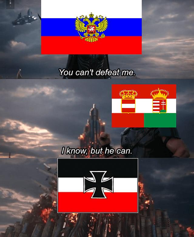Austria Hungary versus Russia in WWI, funny