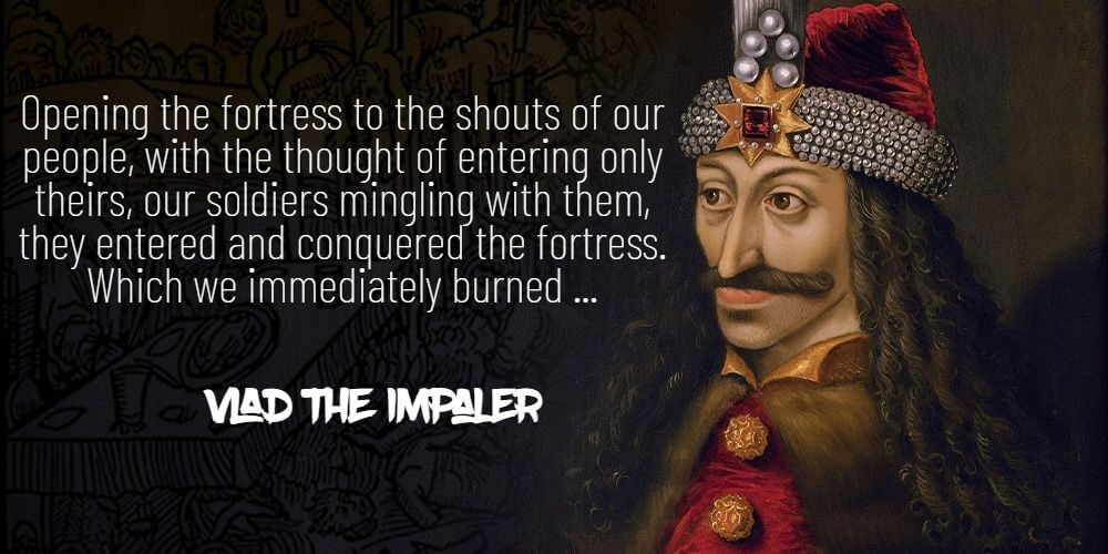 Vlad the Impaler quote about the turks