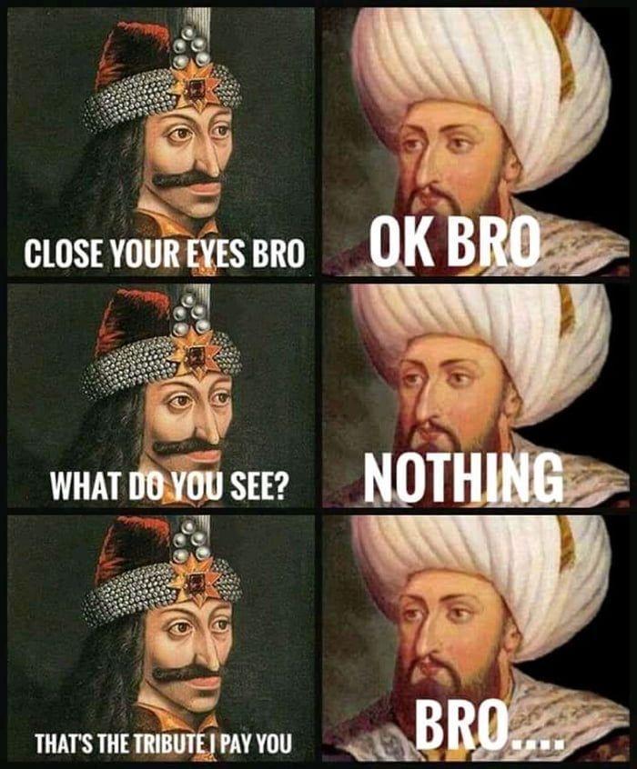 Vlad the Impaler reaction when Mehmed II demands his tribute